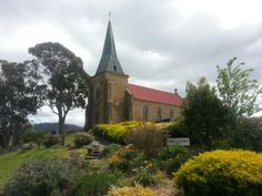 St John's Catholic Church in Richmond, Tasmania, was built in 1836 and is considered the oldest Roman Catholic church in Australia. St John's Church, Roman Catholic, My Happy Place, Australia Travel, Places Ive Been, Gothic, Scenery, Landscapes, Aussies