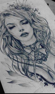 54 ideas for mother nature drawing tattoos Tattoo Sketches, Tattoo Drawings, Drawing Sketches, Art Drawings, Sick Drawings, Pencil Drawings, Tattoo Gesicht, Tattoo Hals, Neue Tattoos