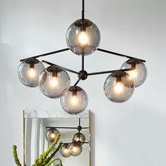 Sphere + Stem 6-Light Chandelier + Flushmount #westelm