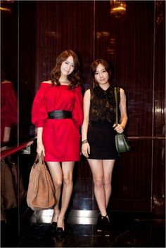 Girls' Generation's YoonA & Taeyeon attend a special Gucci event in Seoul