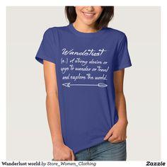 Wanderlust world tee shirt