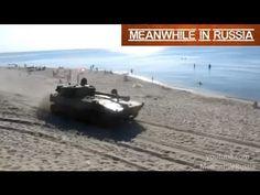 Tanks On The Beach   The beach on the Baltic Sea (Russia, Kaliningrad region).