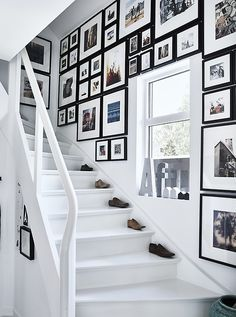 Make the most of a stairwell with a picture gallery - mix different sized frames to fill every inch of space with memories and artwork. Get inspiration from homes around the world at IKEA.com #IKEAIDEAS