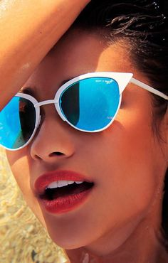 Only white sunglasses I would wear. Tilly White Sunglasses from Quay x Shay Mitchell White Sunglasses, Quay Sunglasses, Sunglasses Outlet, Sunglasses Accessories, Cat Eye Sunglasses, Sunnies, Mirrored Sunglasses, Sunglasses Women, Quay Eyewear