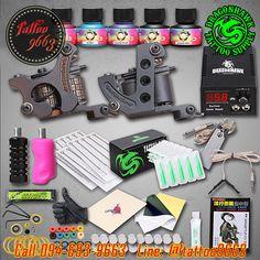 [SET A4B] ชุดเครื่องสักคอยล์ Double เครื่องสักลายครบชุด พร้อมอุปกรณ์สัก หมึกสัก สีสัก เข็มสัก (DragonHawk Double Guns Professtional Tattoo Machine Set)  สนใจสั่งซื้อเครื่องสักราคาถูก ★ Tel. : 094-693-9663 ★ Line ID : @tattoo9663 (มีเครื่องหมาย @ นำหน้า) ★ Web : www.tattoo9663.com