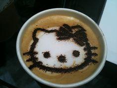 HELLO KITTY COFFEE!!:)