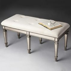 Ivory Mirror Bench - 15567231 - Overstock.com Shopping - The Best Prices on Benches