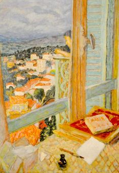 Pierre Bonnard October 1867 — 23 January - The Window, 1925 at Tate Modern Art Gallery London England Pierre Bonnard, Art And Illustration, Tate Modern Art, Post Impressionism, Window Art, Art Mural, Oeuvre D'art, Painting & Drawing, Painting Lessons