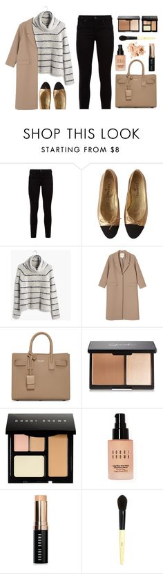 """""""Work It"""" by amazing-abby ❤ liked on Polyvore featuring Hudson, Chanel, Madewell, Monki, Yves Saint Laurent, Bobbi Brown Cosmetics, women's clothing, women's fashion, women and female"""