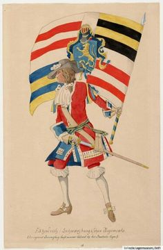 Dutch soldier Dutch Empire, Anglo Dutch Wars, Military Dresses, Louis Xiv, Cold War, 17th Century, Warfare, Troops, Flags