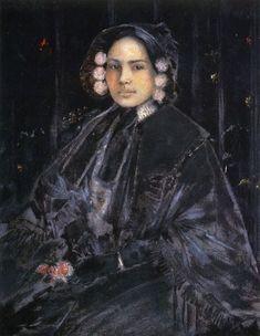 William Merritt Chase Portrait of Mrs. Julius Erson (1890)