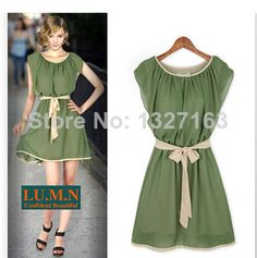 8c57719f0c Find More Dresses Information about Millyn 1033 S XL women s chiffon dress  Green Irregular ladies with