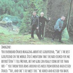 942 Likes, 20 Comments - draco malfoy imagines Draco Malfoy Imagines, Harry Potter Imagines, Draco And Hermione, Harry Potter Draco Malfoy, Harry Potter Jokes, Harry Potter Fandom, Dramione, Drarry, Tom Felton