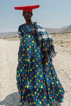 herero on the road. Namibia  http://www.pinterest.com/tramatextiles/ethnic-indigenous-style/