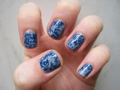 Get Marble Nails with Plastic Wrap: Our Latest Nail Obsession | Shine-Beauty - Yahoo Shine