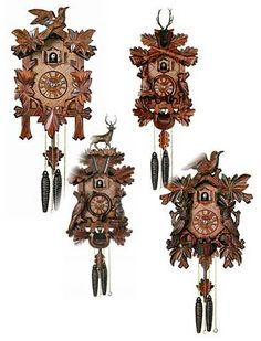 Travel to Germany and bring back a special coo-coo clock Cuckoo Clock Tattoo, Cuckoo Clocks, Coo Coo Clock, Novelty Clocks, Black Forest Germany, Classic Clocks, Wooden Clock, Dream Decor, Ticks