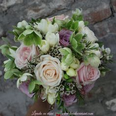 Buchete pentru nunta. Cununie, mireasa, nasa sau domnisoare de onoare #romantic #buchet #cununie #nunta #mireasa #nasa #wedding #bouquet #madewithjoy #paulamoldovan #livadacuvisini #wedding #weddingflowers #idoflowers #flowers #roses #pastel #waxflower #helleborus #lace Wax Flower, Art Floral, Wedding Bouquet, Nasa, Floral Wreath, Roses, Pastel, Romantic, Wreaths