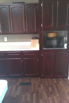 Stained kitchen cabinets -- gorgeous!