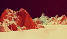 Low-Poly [Non-Isometric] by Timothy J. Reynolds, via Behance - set design