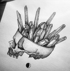 Crystal Brain dotwork tattoo                                                                                                                                                      More