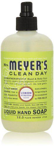 Mrs. Meyer's Clean Day Liquid Hand Soap, Lemon Verbena, 12.5 Oz Mrs. Meyer's Clean Day http://www.amazon.com/dp/B000S5S1DK/ref=cm_sw_r_pi_dp_I7mStb12F28MX9ES