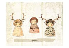 Deer paperdolls