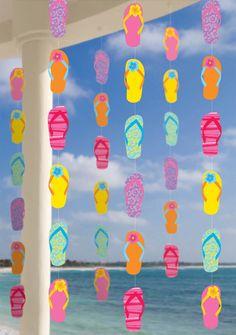 Kleurrijke slippers decoraties: Decoratie,en goedkope carnavalskleding - Vegaoo