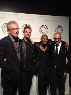 Group shot!! Cuse, Holloway, Kelley and Lindelof #lost #paleyfest