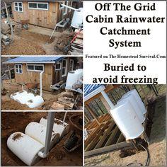 The Homestead Survival | Off The Grid Rainwater Catchment System | http://thehomesteadsurvival.com - Homesteading & Water Storage #RainBarrelSystem
