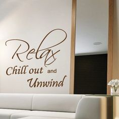 Relax Bedroom Wall Quotes Art Wall stickers / Wall decals / Wall Mural from AmazingSticker. £16.99, via Etsy.