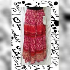 💕HOST PICK 12/15💕Nwt long multicolored skirt NWT long multicolored skirt  Excellent condition no flaws  100% cotton  Measurements  Waist 32 in. Length 34.5 in. Jane ashley Skirts