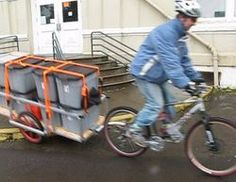 Bike cargo trailer from OSU... put through the tests!