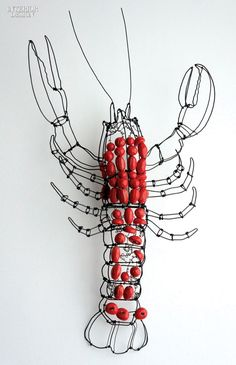 Lamps and Lighting – Home Decor :     Editors' Picks: 90 Amazing Light Fixtures   Marie Chrisophe's Lobster sconce in wire and ceramic by Lisa Fontanarosa. #design #interiordesign #interiordesignmagazine #products #lighting #sconces    -Read More –   - #Lighting