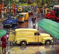 1950 chevrolet p l advance design trucks peter helck 1893 1988 ...