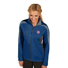 Chicago Cubs Antigua Women's Discover Full-Zip Jacket - Royal