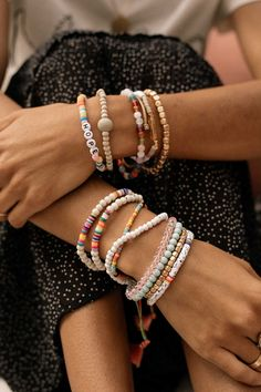 **Shop our new stackable bracelets** Mix and match your favorite colors and textures to add spunk to your outfit!