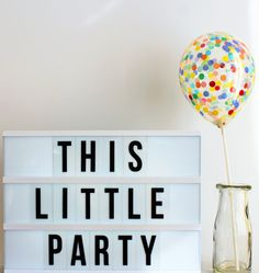 Confetti Balloons Party Decoration Mini size (12cm) pack of 3! The Perfect Birthday or Baby Shower Party decor! Choose Rainbow, Pink & Blue! by ThisLittleParty on Etsy
