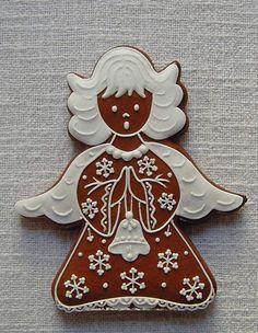 ❤️Little Angels ~ Christmas gingerbread Christmas Gingerbread House, Christmas Sweets, Noel Christmas, Christmas Goodies, Christmas Baking, Gingerbread Cookies, Gingerbread Houses, Galletas Cookies, Cupcake Cookies