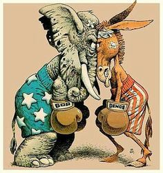 Who Wins the Corruption Games, Republicans or the Democrats? American Political Parties, Teaching American History, Baby Car Mirror, Political Ideology, Political Satire, Political Cartoons, Democrats And Republicans, Art Of Manliness, Guerrilla Marketing
