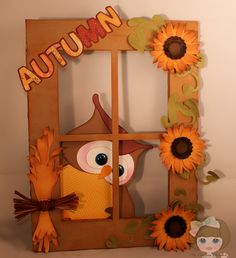 My Crafting Channel: Have An Owlsome Fall Y'All! Inspired by Brigit, Nana changed to a cute owl! Preschool Crafts, Crafts For Kids, Arts And Crafts, Paper Crafts, Diy Crafts, Wood Crafts, Paper Flower Art, Paper Flowers, Fall Leaf Template