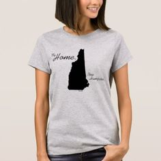 My Home New Hampshire state Black T-Shirt  $31.00  by My_Home_T_Shirts  - cyo customize personalize unique diy