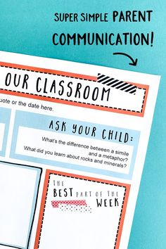 Classroom Newsletter Templates: Stick To It! Newsletter Format, Class Newsletter, Classroom Newsletter Template, Newsletter Templates, Learning Resources, Teacher Resources, Teaching Ideas, Parent Teacher Communication, Student Of The Week