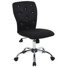 Task Chair: Microfiber Task Chair with Tufting - Black