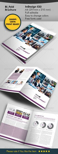 Lawyer Bifold Brochure  —  InDesign Template • Download ➝…