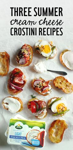 For light bites you can enjoy throughout the summer, try @andiemitchell's crostini with a wholesome smear of Arla cream cheese and seasonal veggies. Get the recipe now!