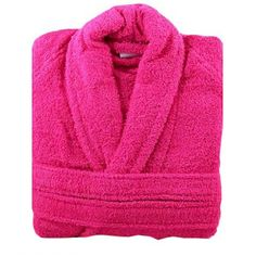 This is a splended #Fuschia_bathrobe which comes in the #terry_towel fabric with its awesome #comfortability.