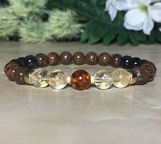 Womens 8mm Baltic Amber Bracelet, Genuine Sugilite Bracelet, Pietersite Bracelet, Citrine Bracelet, Protection Bracelet, Heart Chakra, Crown Chakra ** Be sure to check out this awesome product.