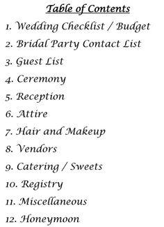 Wedding Planning Kit Planner PDF Checklist