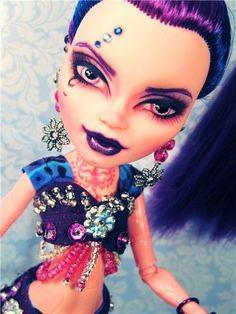 Custom WISP Genie GiGi Grant 13 Wishes Monster High Doll Repaint OOAK Reroot NEW by Donna Anne's Fantasy Dolls www.fantasydollsbyd.com
