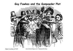 activities and coloring to celebrate Bonfire Day and learn about Guy Fawkes (1570 to 1606), also known as Guido Fawkes, was one of a group of Catholic plotters who planned, but failed, to blow up Parliament